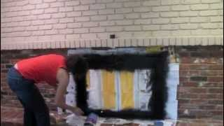 How to Paint a Brick Fireplace With Brick Anew: DIY Tutorial - Thrift Diving