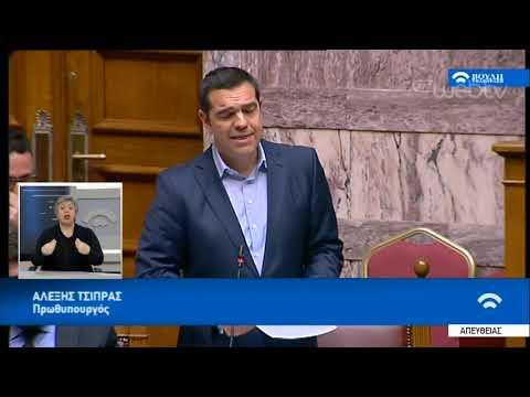 Απάντηση και ανταπάντηση Αλέξη Τσίπρα και Κυριάκου Μητσοτάκη | 13/2/2019 | ΕΡΤ
