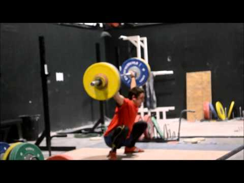 Chris makes a couple of snatch PR's.