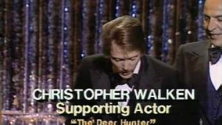 "Christopher Walken Winning An Oscar®  For ""The Deer Hunter"""
