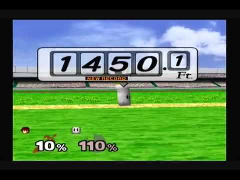 Super Smash Bros. Melee - Home Run Contest - Roy: My Best Distance