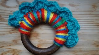 Wool and Wood Teething Ring
