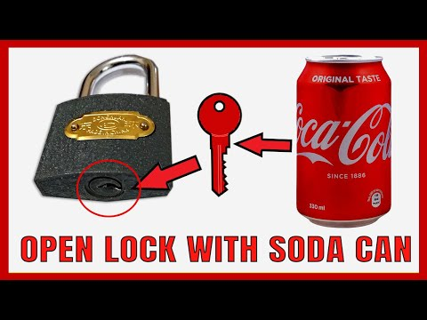 How to Open Lock Without Key With Coca Cola Soda Can| |🔴| Easy Method |DIY| Experimental Army|