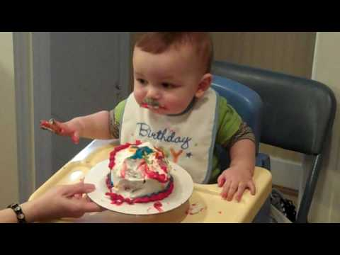 Baby Boy & His First Birthday Cake