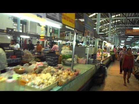 Fresh Thai Foods at Krabi Morning Market. Maharaj Market, Krabi Town, Thailand