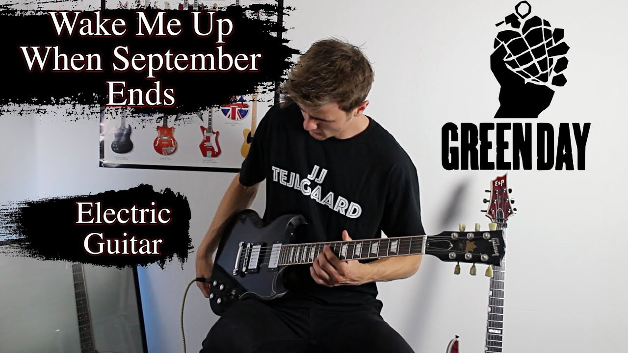 Green Day – Wake Me Up When September Ends – Electric Guitar Cover