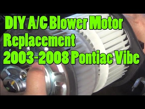 DIY A/C Heater Blower Motor 2003-2008 Pontiac Vibe Replacement