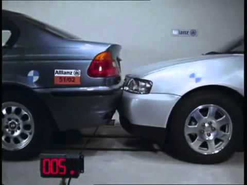 Краш тест Audi A3 2000 vs BMW 3 Series Sedan E46 1998 (Bumper DTC)