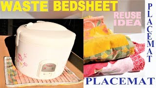Video Best use of old Bed sheet | Old cloth reuse idea | DIY art and craft MP3, 3GP, MP4, WEBM, AVI, FLV Agustus 2018