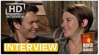 Video The Fault In Our Stars | Shailene Woodley & Ansel Elgort Exclusive Interview BEST KISS MP3, 3GP, MP4, WEBM, AVI, FLV April 2018