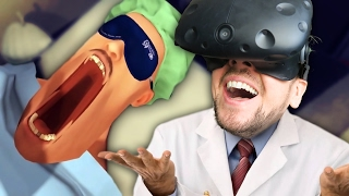 I BROKE HIS JAW | Surgeon Simulator VR #5 (HTC Vive Virtual Reality)