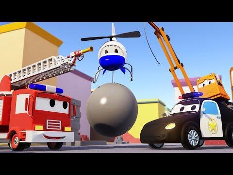 Video La Grúa Demoledora desapareció ! La Super Patrulla AL RESCATE : Carro de Bomberos y Carro de Policía download in MP3, 3GP, MP4, WEBM, AVI, FLV January 2017
