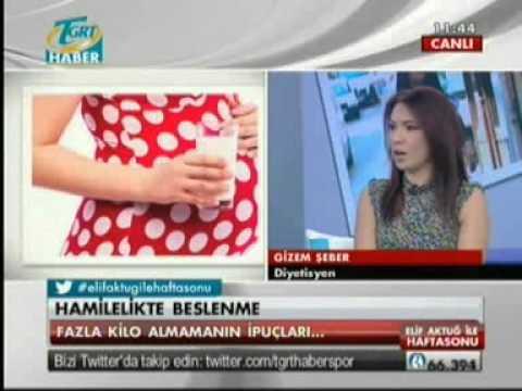 Diyetisyen ve Yaşam Koçu Gizem ŞEBER; 1 Eylül 2013 tarihinde Elif Aktuğ'un program konuğu olarak sağlıklı beslenme, diyet, hamile beslenmesi ile ilgili merak edilenleri cevapladı.