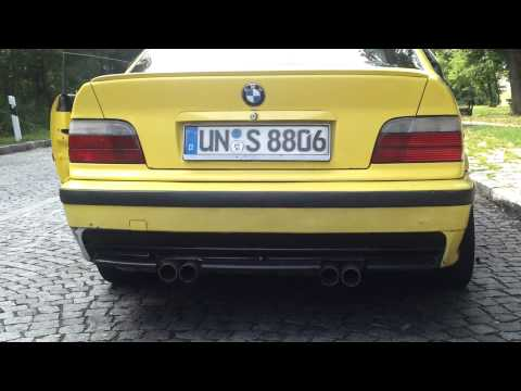 bmw e36 coupe 318is e46 m3 exhaust sound part1