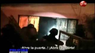 Todo el profesionalismo de la policia de invesigaciones de Chile interviniendo con el Escuadron de Reaccionamiento Tactico Antinarcoticos.