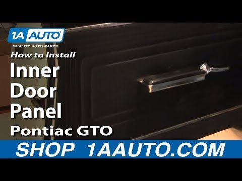 How To Install Replace Remove Inner Door Panel Pontiac GTO 64-65 1AAuto.com