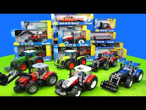 Tractor Toys Unboxing for Kids: Bruder Animals Farm Playset | Ride on Toy Vehicles