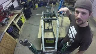 In this part of my atv screw drive series, i tackle the finishing touches on the suspension system. I also get to see how the system operates for the first time! and bounce around on it like a child!!! The construction of this bulkhead is a key component to the chassis of the machine.