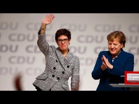 Neue CDU-Vorsitzende: Annegret Kramp-Karrenbauer setz ...