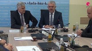 Radni sastanak predsjedatelja Predsjedništa BiH Dragana Čovića i Vlade HNŽ