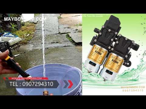 Khách test máy bơm áp lực 12V kép tự động dùng phun tưới cây