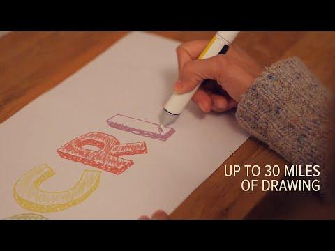 震驚美術界的革命新科技,一支抵百支的塗鴉魔術筆!