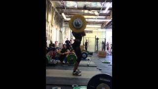 Jessica makes a PR clean & jerk with