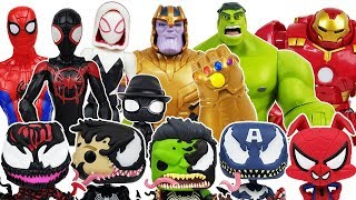 Video Thanos & Spider-Man Into the Spider-Verse, Avengers, Hulk, Iron Man,Venom, Tayo Toys Play MP3, 3GP, MP4, WEBM, AVI, FLV Desember 2018