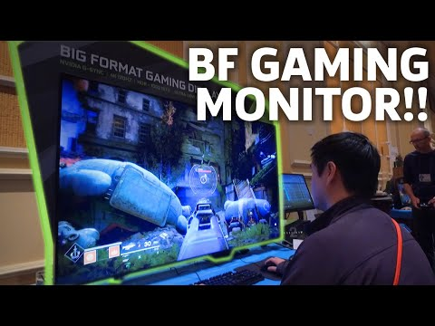 Gaming On Nvidia's Huge 65-inch Monitor Is A BIG DEAL | CES 2018 (видео)