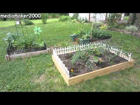 How To Make A Raised Bed With A Border Fence DIY