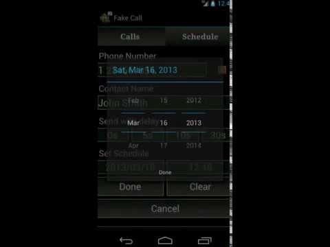 Video of Fake Call