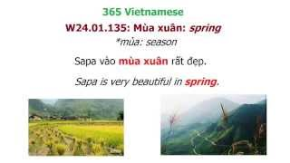 Learn Vietnamese With Annie, 365 Vietnamese #24: Seasons In Vietnamese