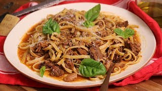Slow Cooked Shredded Beef Ragu by Laura in the Kitchen