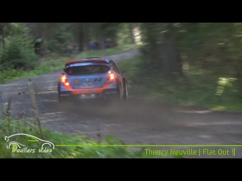 thierry neuville flat out - east belgian rally 2014