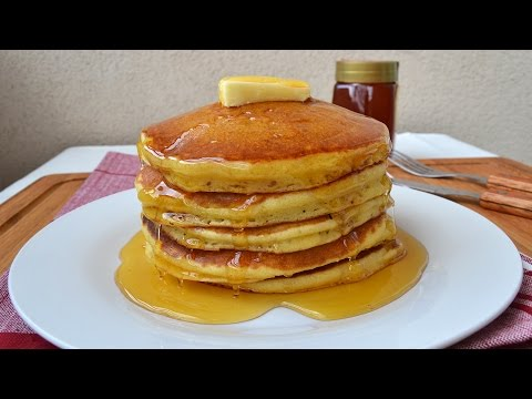 How to Make American Pancakes - Easy Homemade Pancake Recipe from Scratch (VIDEO)