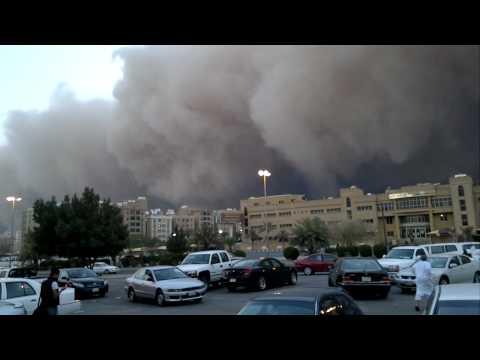 Kuwait Dust storm in Mangaf view