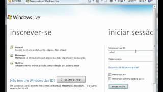 Mais informação em http://artur.scholarup.com/2010/10/1-como-mudar-o-email-do-messenger.html Língua: Português de...