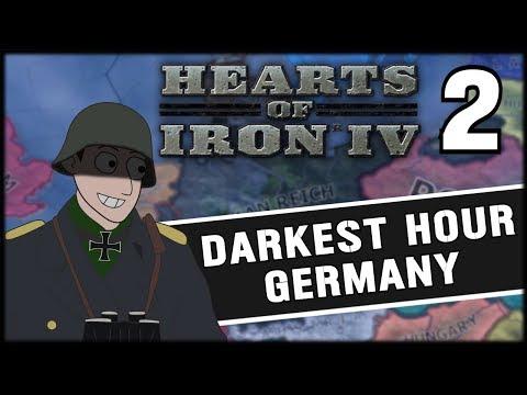 WW2 BEGINS! Hearts of Iron 4 Darkest Hour Germany Campaign Mod Part 2 (видео)
