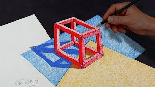 Drawing A 3D Cube Easy And Simple Steps  Drawn by using Prismacolor Premiere colored pencils and black marker.Time Lapse Drawing.Time taken around 1.45 hours.Background Music : Solar Flares by Silent Partner.If you like my video please don't forget to subscribe.Thanks for watching.