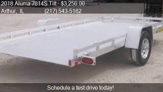 8. 2018 Aluma 7814S Tilt 14' Tilt aluminum trailer for sale in