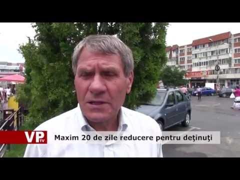 Maxim 20 de zile reducere pentru deţinuţi