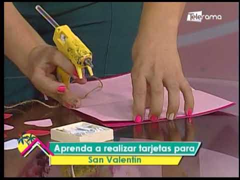 Aprenda a realizar tarjetas para San Valentín