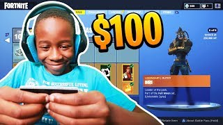Kid Spends $100 On Season 6 *MAX* Battle Pass With Brother's Credit Card (Fortnite)