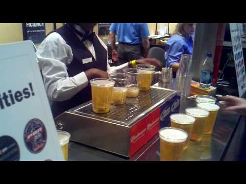 Ultimate Beer Dispenser: Beers Filling Up Through the Bottom