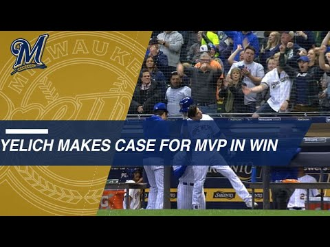 Video: Yelich's 2-homer game lifts Crew, strengthens MVP case
