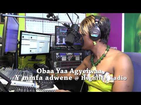 MMFA - Obaa Yaa Agyeiwaa hosting Y'mmfa adwene on Highlife Radio.