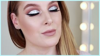 Welcome to my glitter cut crease makeup tutorial! I wanted to share a bold makeup look today and this silver glitter cut crease eyeshadow tutorial is great f...