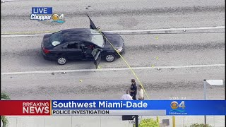 There is a large police presence in southwest Miami-Dade.