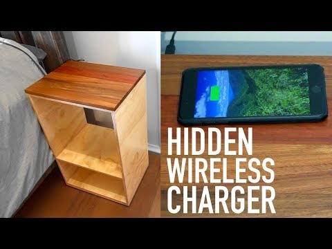 Hidden Wireless Charger In A Bedside Table