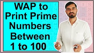 Program to Print All Prime Numbers between 1 to 100 in Java by Deepak